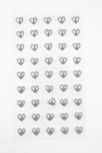 Bilde av Kort & Godt - Stickers - ST-150 - Perle hjerte - Sølv