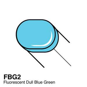 Bilde av Copic - Sketch Marker - FBG2 - FLUORESCENT - DULL BLUE GREEN