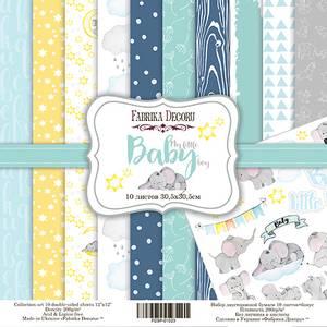 Bilde av Fabrika Decoru - 12x12 paper pack - 01023 - My little baby boy
