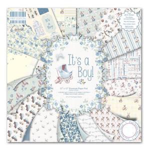 Bilde av First Edition - 075 - 12x12 Paper Pad - It's a Boy