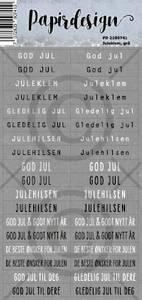 Bilde av Papirdesign - Klistremerker - 2100741 - Juleklem, grå