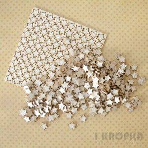 Bilde av I Kropka - Chipboard - Stars from the sky - small stars - 100stk