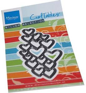 Bilde av Marianne Design - Craftables dies - CR1555 - Art Texture Hearts