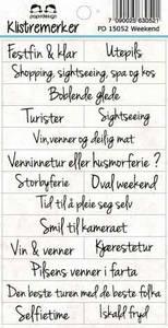 Bilde av Papirdesign - Klistremerker - 15052 - Weekend