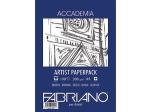 Bilde av Fabriano - Accademia Artist Paperpack - 200gr. A4 - 100 ark