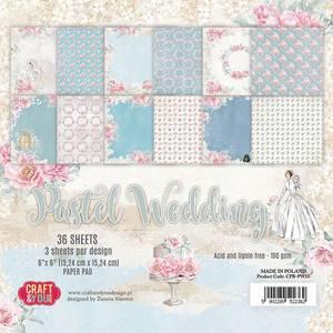 Bilde av Craft & You - PW15 - Pastel Wedding - 6x6 Paper Pad