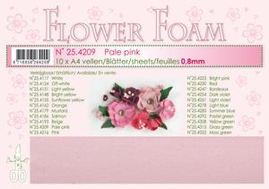 Bilde av Leane Creatief - Flower Foam - A4 - 0.8mm. - Pale Pink - 1 stk