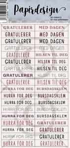 Bilde av Papirdesign - Klistremerker - 2000473 - En rosa gratulasjon