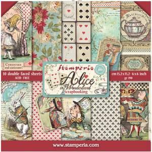 Bilde av Stamperia - 6x6 Paper Pack - 03 - Alice in Wonderland