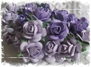 Bilde av Papirdesign - Roser - 1,8cm - Lys lilla