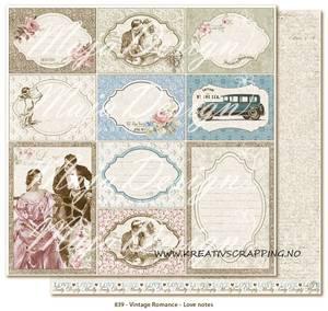 Bilde av Maja Design - 839 - VINTAGE ROMANCE - LOVE NOTES