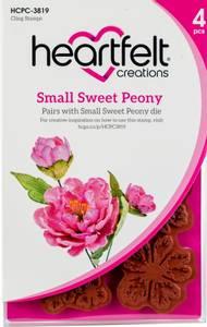 Bilde av Heartfelt Creations - Sweet Peony Small - Cling Rubber Stamp Set