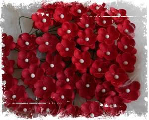 Bilde av Papirdesign - Søte blomster rød