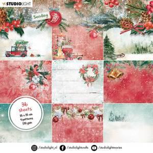 Bilde av Studiolight -   10 - PaperPad 15x15cm - PP10 - Sending Joy