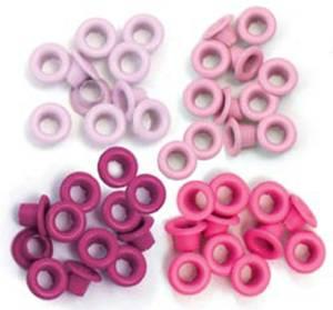 Bilde av We R Memory Keepers - Standard Eyelets - Pink - 60 stk