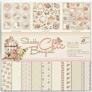 Bilde av Little Birdie - 12x12 Paper Pack - Shabby Chic Bouquet