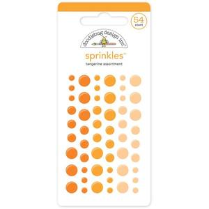 Bilde av Doodlebug - 4007 - Sprinkles - Glossy dots - Tangerine