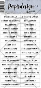 Bilde av Papirdesign - Klistremerker - 1900303 - Strikk