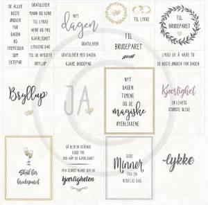 Bilde av Papirdesign PD18446 - Bryllupsfest - Til de nygifte