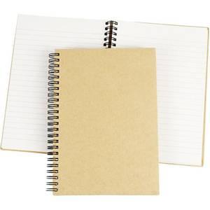 Bilde av Notebook - Kinabok med spiral - A5 - 15 x 21 cm - natur