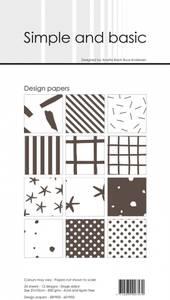 Bilde av Simple and basic - Paper Pack - SBP903 - 10x21cm - Warm Grey