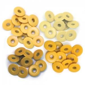 Bilde av We R Memory Keepers - Wide Eyelets - Yellow - 40 stk