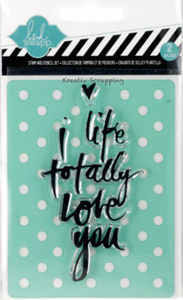 Bilde av Heidi Swapp - Clear stamp & stencil 98156 - LOVE YOU