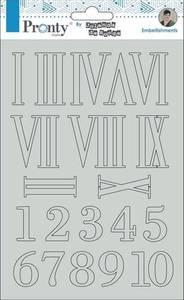 Bilde av Pronty Crafts - Chipboard - A5 - Numbers