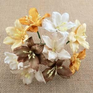 Bilde av Flowers - Lily Flowers - Large - SAA-429 - Mixed Earth Tone - 50