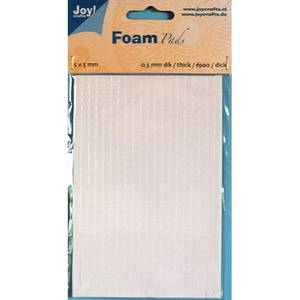 Bilde av Joy Crafts - 6500-0000 Foam Pads - White - 5x5mm - h: 0,5mm