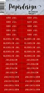 Bilde av Papirdesign - Klistremerker - 1900310 - God jul 3
