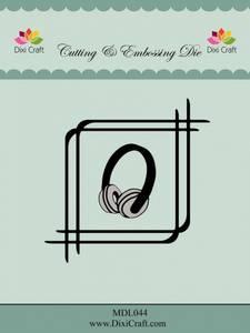 Bilde av Dixi Craft - Dies - MDL044 - Square Frame with headphones