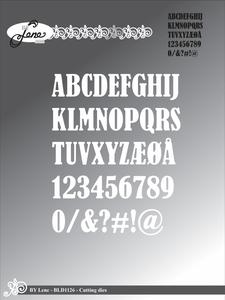 Bilde av By Lene - Dies - BLD1126 - Alphabet (OBS: uten W)