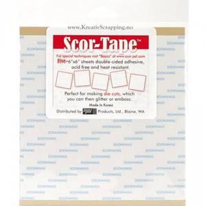 Bilde av Scor-Tape - SP210 - Sheets 6x6 Inch - (5 ark - 15,2x15,2cm)