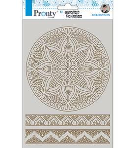 Bilde av Pronty Crafts - Chipboard - A5 - Mandala & Borders