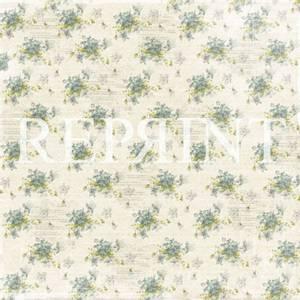 Bilde av Reprint - 12x12 - RP0264 - Dusty Blue - Spring Flowers