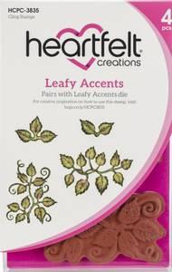 Bilde av Heartfelt Creations - Leafy Accents - Cling Rubber Stamp Set