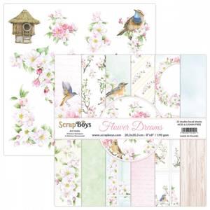 Bilde av ScrapBoys - Flower Dreams - 8x8 - Paper pad