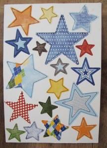 Bilde av Papirdesign - Chipboards - 631 - Stjerner Blå