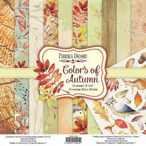 Bilde av Fabrika Decoru - 12x12 paper pack - 01091 - Colors of Autumn