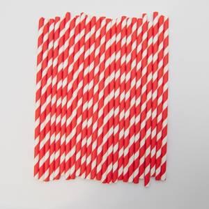 Bilde av Kort & Godt - Sugerør - XG201 - hvit-rød striper