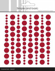 Bilde av Simple and Basic - SBA007 - Enamel Dots - Chili Red