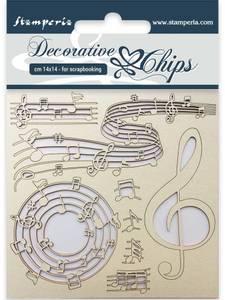 Bilde av Stamperia - Chipboard Decorative Chips - 11 - Music