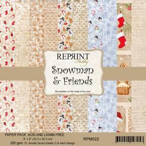 Bilde av Reprint - 8x8 - RPM022 - Snowman & Friends paper pack