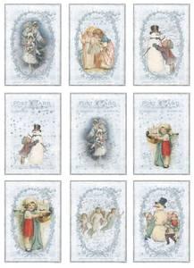 Bilde av Reprint -  A4 Klippeark - KP0056 - Vintage Christmas - Frosty