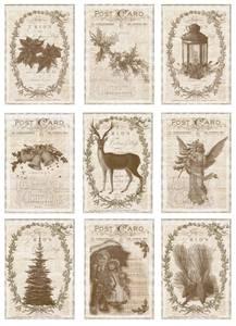 Bilde av Reprint -  A4 Klippeark - KP0057 - Vintage Christmas - Old Times