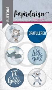 Bilde av Papirdesign - Buttons - 1900215 - Lille gull, blå
