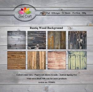 Bilde av Dixi Craft - Paper Pad 15x15 - 091 - Rustiq Wood Background