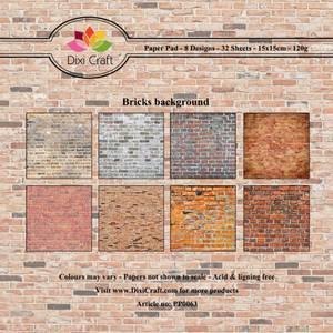 Bilde av Dixi Craft - Paper Pad 15x15 - 063 - Bricks Background