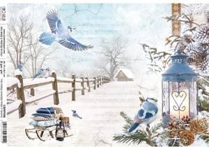 Bilde av Ciao Bella - Rice Paper Sheet A4 - World Changes When it Snows